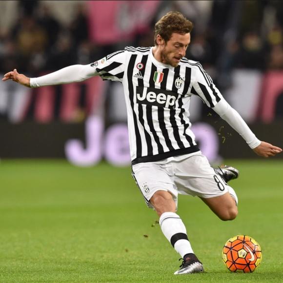 new concept f31e8 6318b JUVENTUS Claudio Marchisio Jersey Adidas Black L